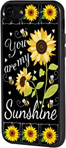 BOSLIVE iPhone 6/6s Plus Case, You are My Sunshine Sunflower Background Design TPU Slim Anti-Scratch Protective Cover Case for iPhone 6/6s Plus 5.5