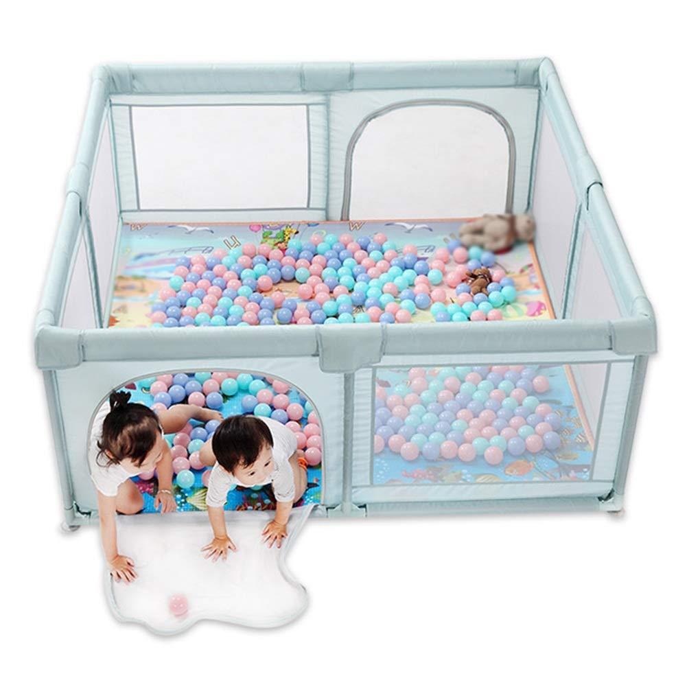 ZHANWEI Recinto Bambini Rettangolo Bambino Piccolo Guardrail Maglia Oxford Baby Box Colore : Verde, Dimensioni : 120x120x70cm 2 Colori 5 Taglie