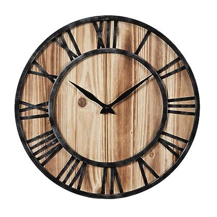 LLH-Relojes de pared Reloj de Pared Redondo silencioso Nostalgia Retro Reloj de Pared de