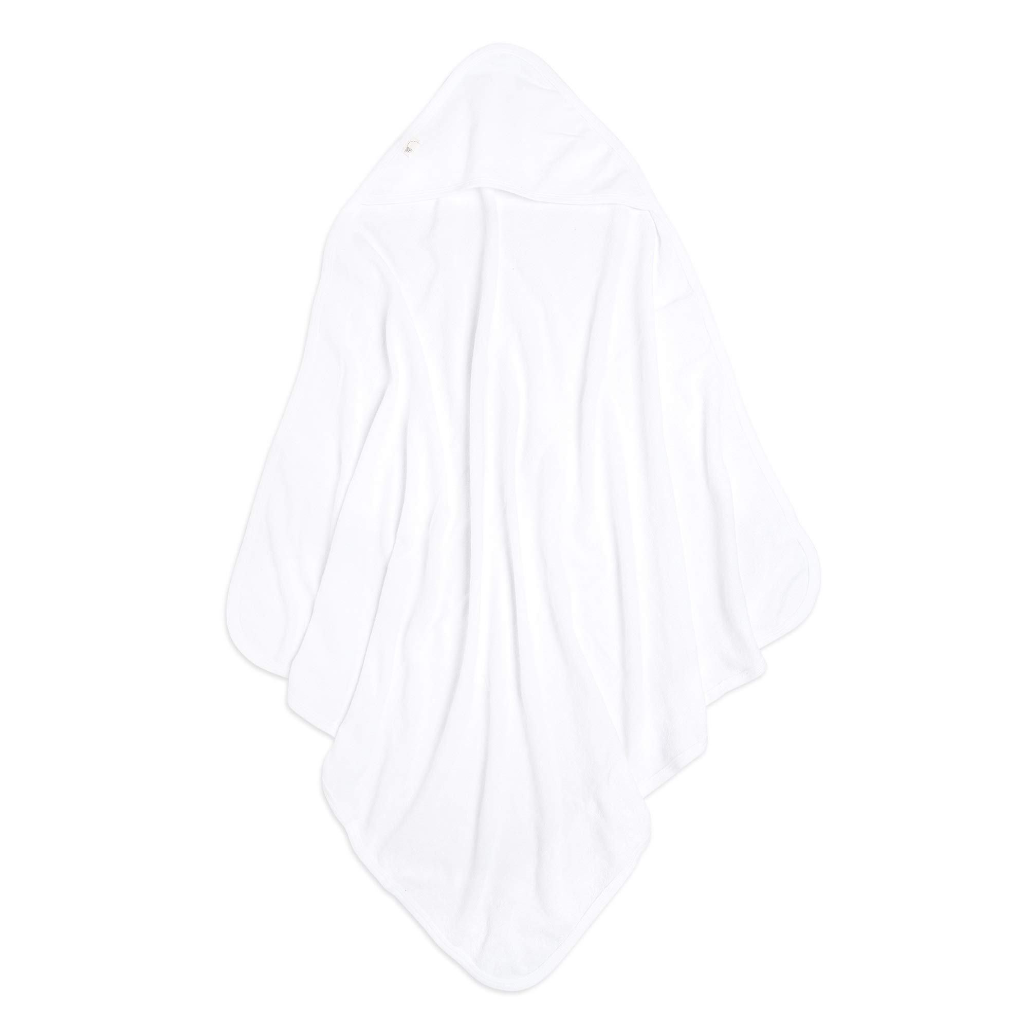Burt's Bees Baby Infant Single Ply Hooded Towel 100% Organic Cotton, Cloud
