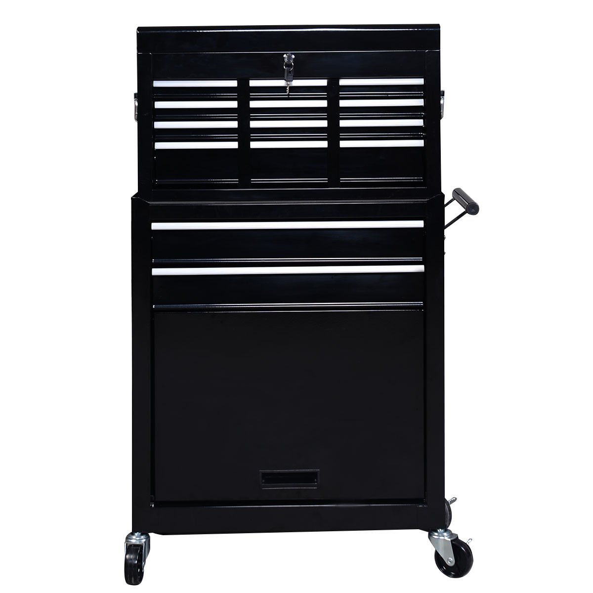 Portable Top Chest Rolling Tool Storage Cabinet Organizer 6 Sliding Drawers by happybeamy