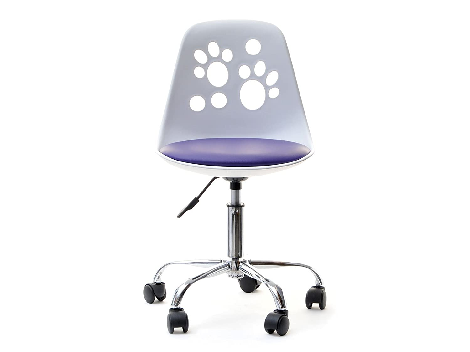 Superb Foot Modern And Funky Looking Adjustable Swivel Chair For Childrens Desk With Multiple Colour Combinations White Violet Creativecarmelina Interior Chair Design Creativecarmelinacom