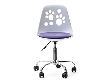 Chaise D'un Design Pour Foot Et Réglable Tournante D'enfantsblancviolet Moderne Le La Innovateur Bureau 9WEH2ID