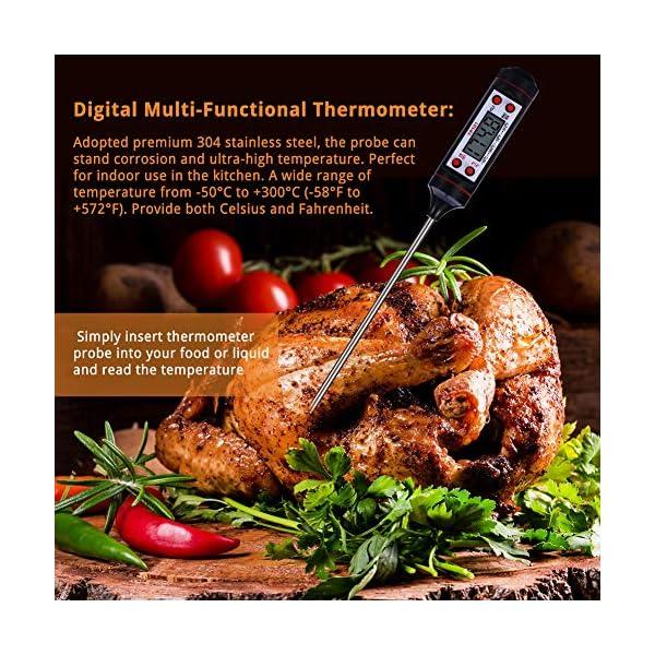 Nuonove Termometro Cucina, Termometri Carne, Termometro Digitale per Alimenti, Schermo LCD, per BBQ Cottura Alimenti… 2