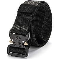 Okany Men's Tactical Belt Heavy Duty Webbing Belt Adjustable Military Style Nylon Belts with Beautiful Gift Box