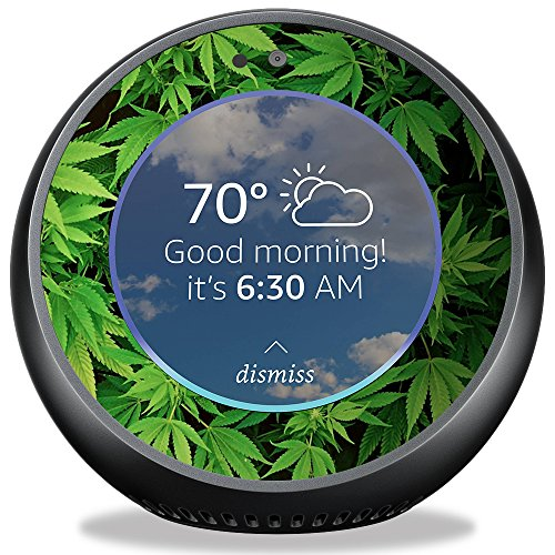 MightySkins Skin for Amazon Echo Spot - Weed | Protective, Durable, and Unique Vinyl Decal wrap Cover | Easy to Apply, Remove, and Change Styles | Made in The USA