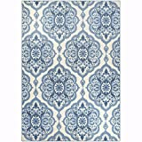 Cheap Maples Rugs Area Rugs – Vivian 7 x 10 Non Slip Large Rug [Made in USA] for Living Room, Bedroom, and Dining Room, 7′ x 10′, Blue