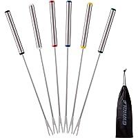 GWHOLE 6 x Tenedores para Fondue Queso