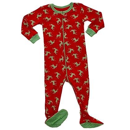 Leveret Baby Boys Girls Christmas Footed Pajamas Sleeper 100% Cotton Kids   Toddler  Pjs (6 Months-5 Toddler) eba3afb55