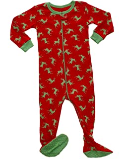 Leveret Baby Boys Girls Christmas Footed Pajamas Sleeper 100% Cotton Kids   Toddler  Pjs ( bb11a4046