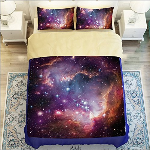 - LELVA Galaxy Quilt Cover Galaxy Duvet Cover Galaxy Sheets Space Sheets Outer Space Bedding Set Galactic Cosmic Bedding Twin Full Queen Size (2, Twin)