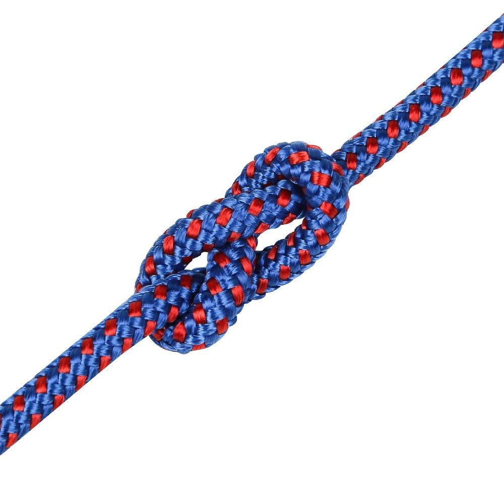 Bleu ANHPI Corde d'escalade De Corde Corde à Linge en Plein Air Camping Attachant Corde Corde De Parapluie Corde Auxiliaire,noir-20m4mm 40m4mm