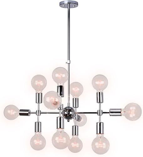 Unitary Brand Modern Silver Metal Geometric Design Chandelier