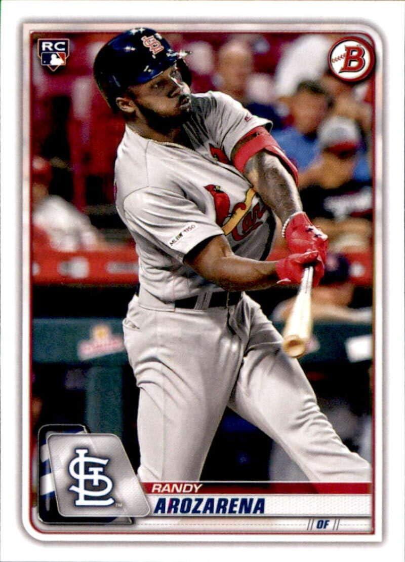 amazon com 2020 bowman 24 randy arozarena st louis cardinals rookie baseball card collectibles fine art amazon com
