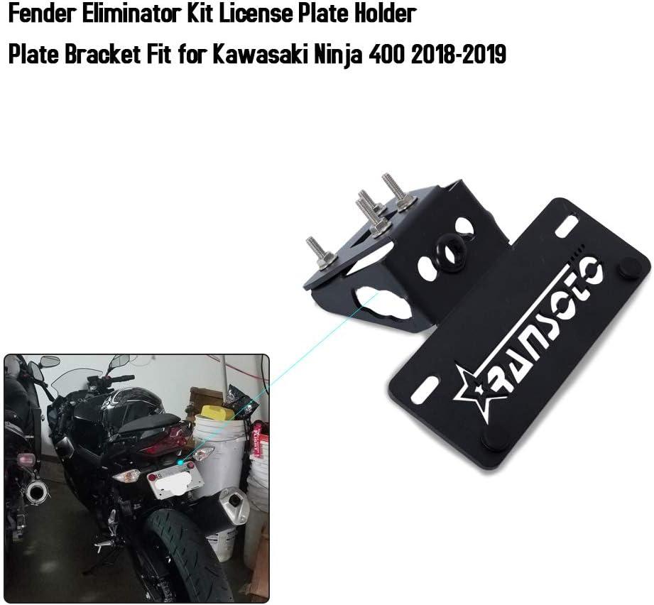 RANSOTO Fender Eliminator Kit Kennzeichenhalter Kennzeichenhalter f/ür Kawasaki Ninja 400 2018-2019