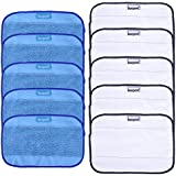 KEEPOW 10 Pack Microfiber Cleaning Mopping Cloths 5 Wet + 5 Dry for iRobot Braava 380 380t 320 Mint 4200 4205 5200 5200C