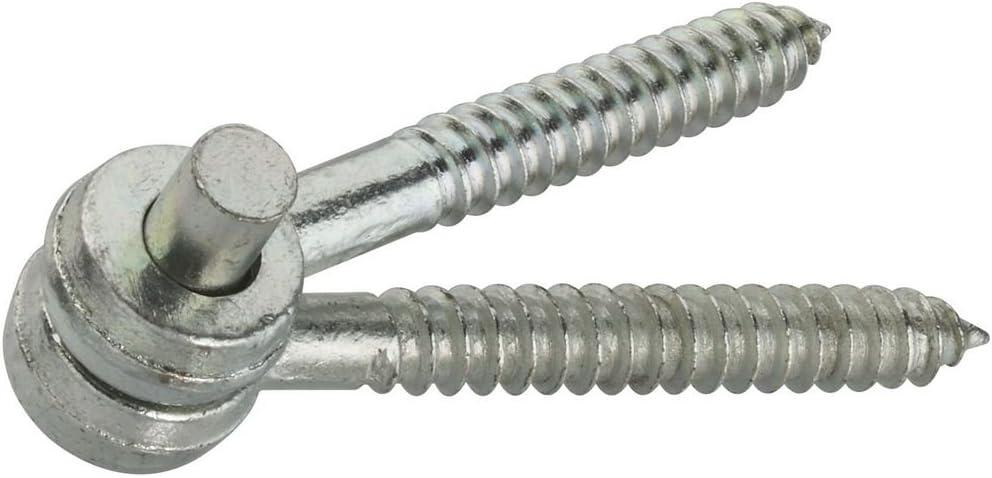 National Hardware N131-169 295 Screw Hook/Eye Hinges in Zinc Plated, 2 Pack,5/8