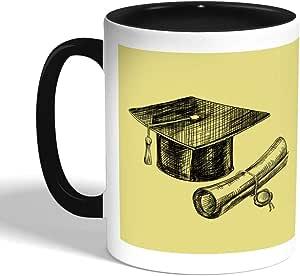 Graduation Day Logo Printed Coffee Mug, Black