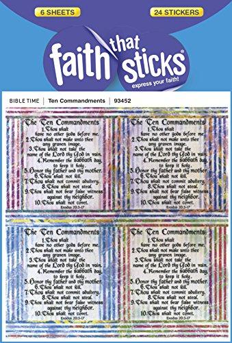 (Ten Commandments (Faith That Sticks Stickers))