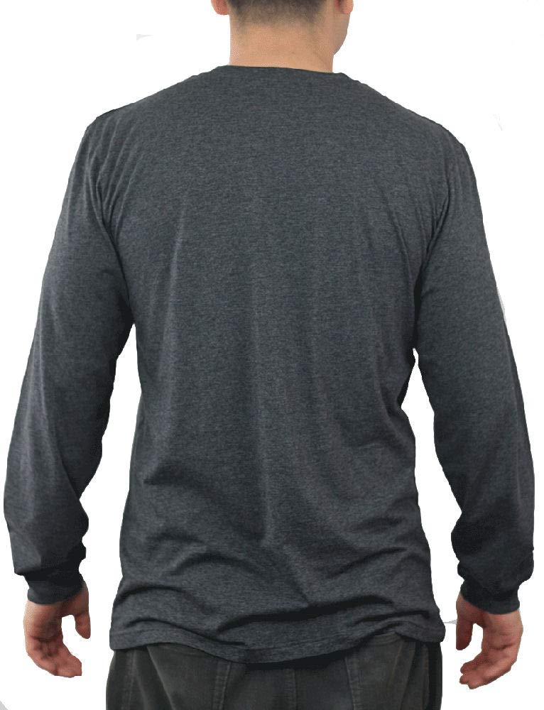 E5 NCAA Herren T-Shirt lang/ärmlig Anthrazit