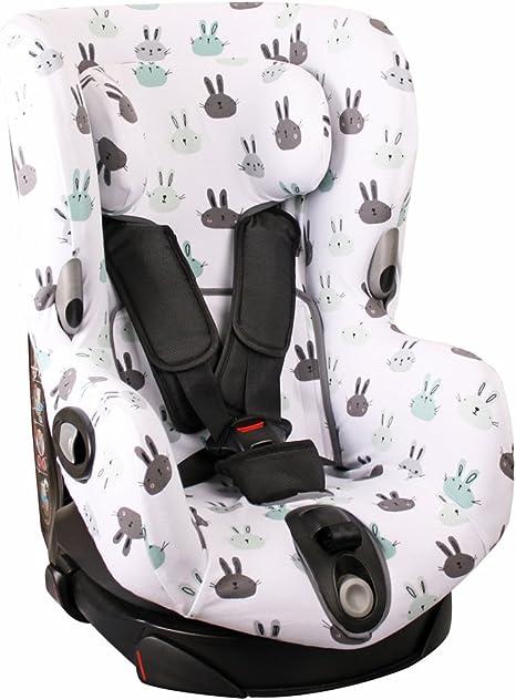 Meyco Baby Housse de protection universelle ultra douce 100/% coton respirant 3 et 5 points Taille 1 par exemple pour Maxi-Cosi Priori//SPS//XP etc.