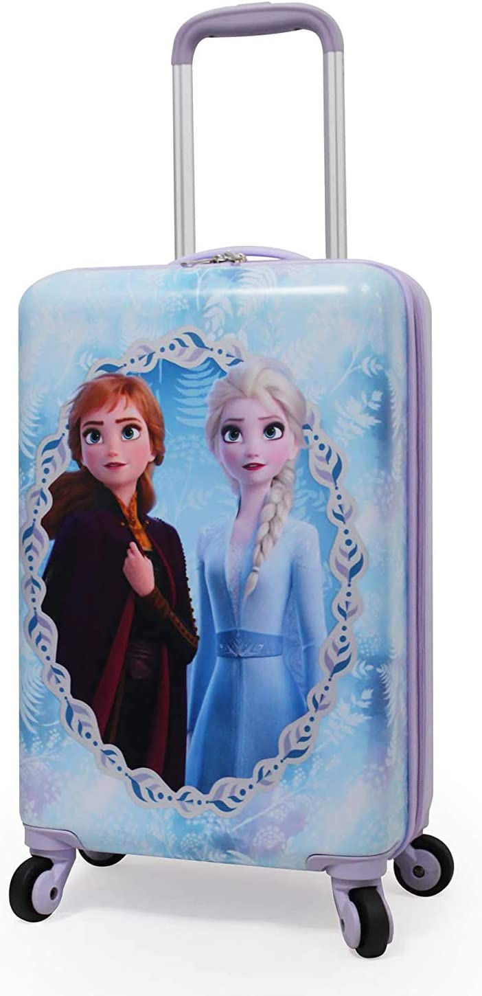 Disney Frozen 2 Luxury 3D Image Pull Along Backpack Trolley Bag with Wheels
