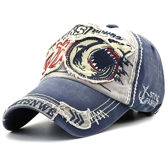 Gorra de béisbol Unisex ajustable Hat Tioamy Retro Baseball Cap Cap Algodón  Fashinable Ocio Carta Sombrero exterior para hombres y mujeres  Amazon.es   Ropa ... 9dbb8605f585