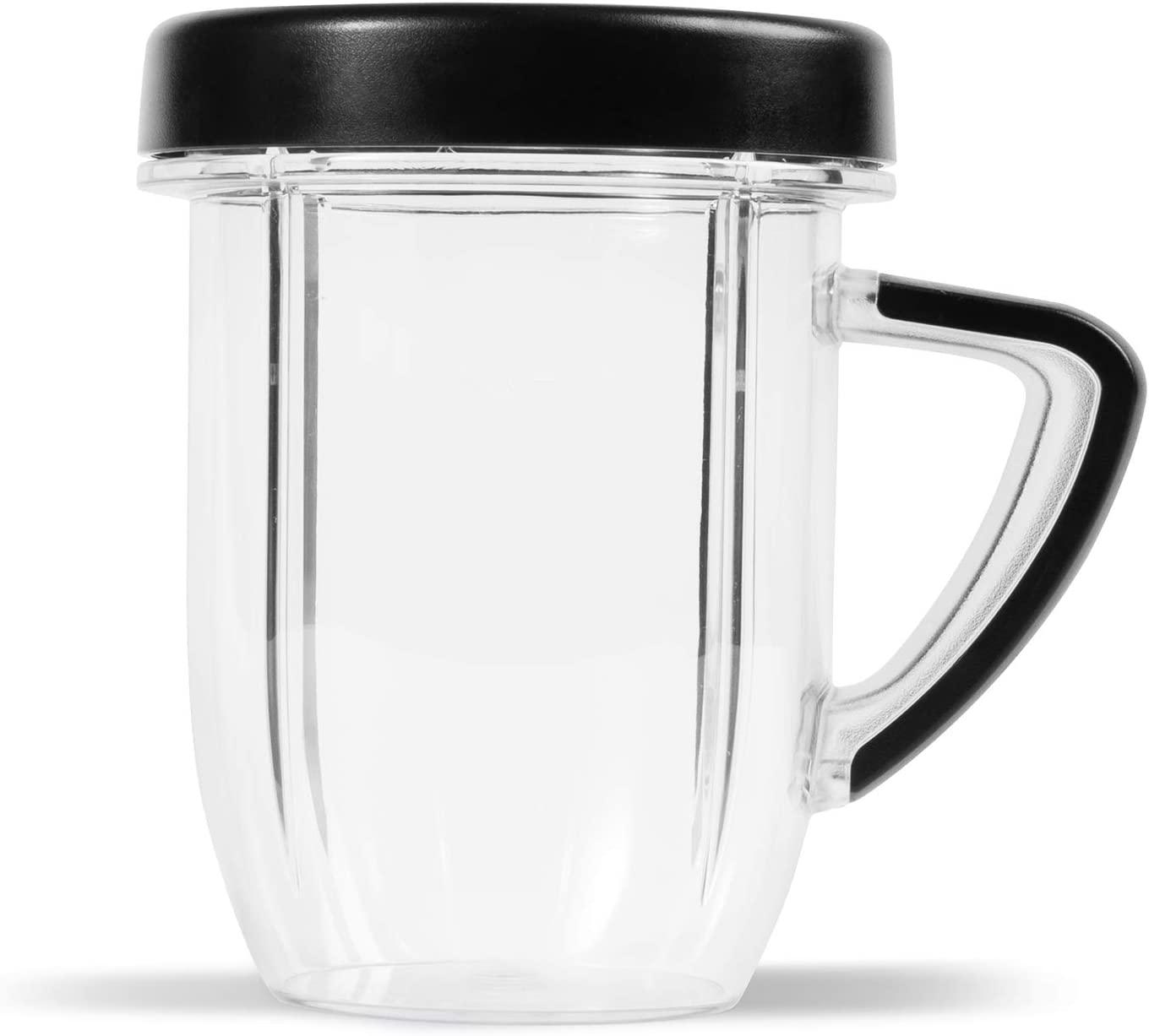 NutriBullet Rx 30 Oz Short Mug with Lip Ring, Black