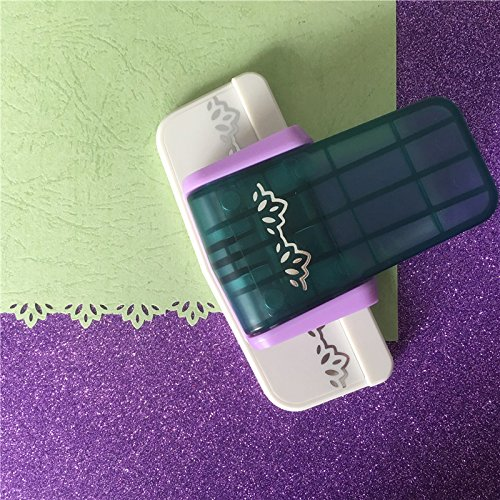 Lavenz Lotus design craft border punch DIY lace embossing aid puncher for Scrapbooking handmade foam paper shaper
