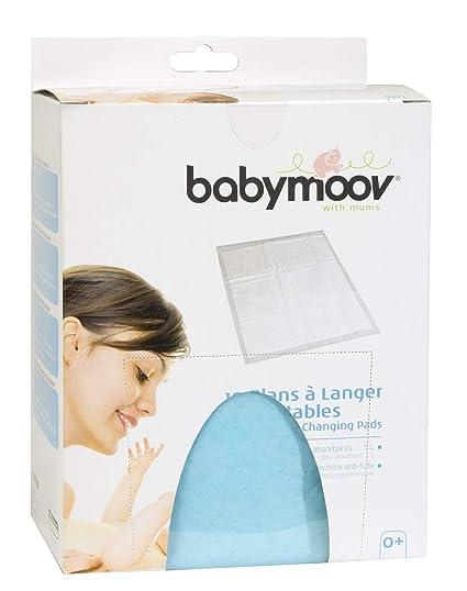 Babymoov 432201 - Cambiadores ultra absorbentes y desechables, tamaño 44.5 x 60.5 cm (pack