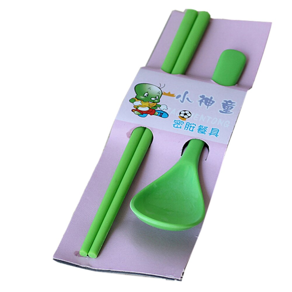 Kids Children Early Learning Flatware Traning Cutlery Set Coffee Spoon Chopsticks for Baby by COFFLED   B00YXNIR50