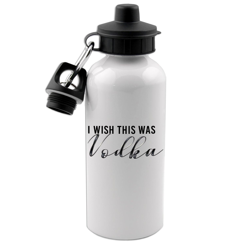 I Wish This Was Vodka 20オンス ホワイト アルミニウム ウォーターボトル   B075X2ML6D