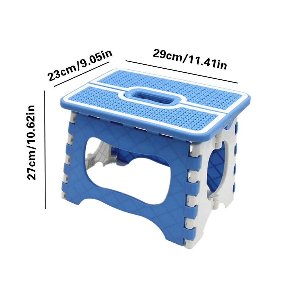 Non Slip Foldable Stool For Kids /& Adults Max Load 150kg 23 X 18 X 20cm tingtin Foldable Step Stool Kitchen Garden Bathroom Camping Fishing Lightweight Durable Plastic Step Stool