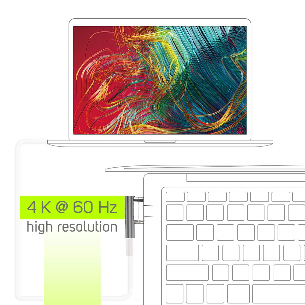 Magnetic USB Type C Adapter, USB C Connector Aluminum with LED Indicator for MacBook Pro/Air, 2019 iPad Pro, Pixelbook, Dell XPS and More Type C ...