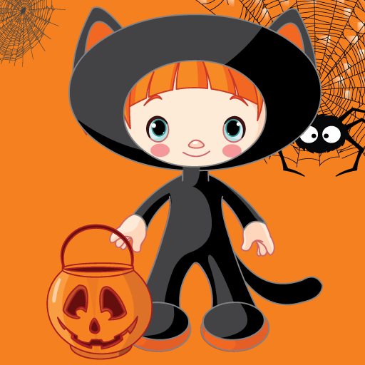 Dress up Halloween for kids - Fun and Educational Jigsaw Puzzle Learning Game for Preschool or Kindergarten Toddlers, Boys and Girls Any -