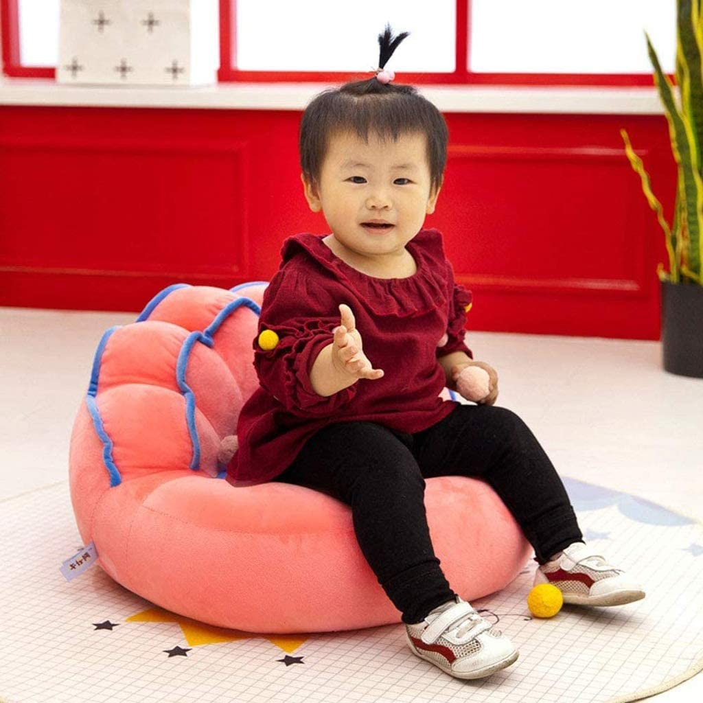 DIAOD Animal Sweet Seats,Baby Children's Plush Chair Stuffed Toys Cartoon Cushion for Protector Cushion Keep Sitting Posture Sitting Sofa (Color : B) D