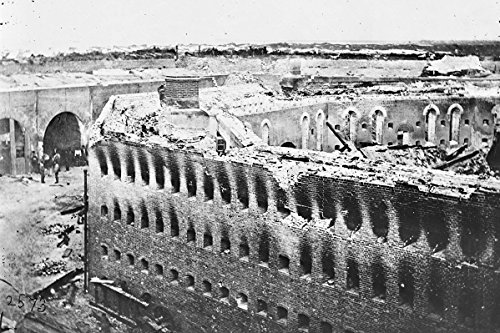 New 4x6 Civil War Photo: Ruins of Citadel at Fort Morgan, Alabama