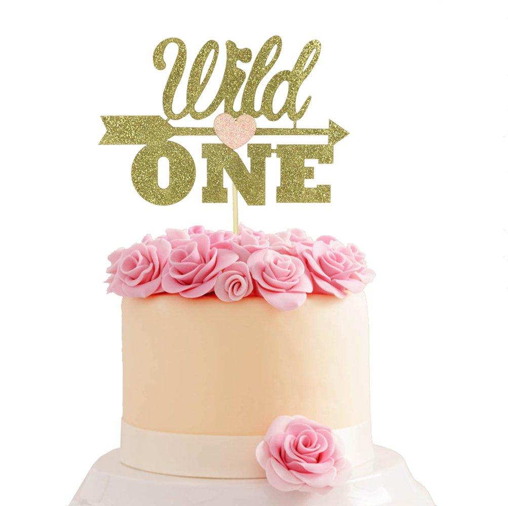 Creative Converting1st Birthday Girl Cake Topper Pink 190024
