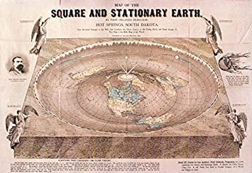 Amazon 23x34 vinyl adhesive poster world map square 23quotx34quot vinyl adhesive poster world map square stationary flat earth 1893 gumiabroncs Images