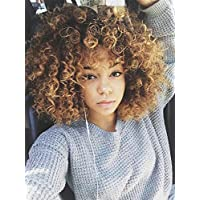 Aisibeauty Afro Wigs For Black Women Brown Mixed Blonde Kinky Curly Full Wigs Synthetic Heat Resistant Wigs For African Women