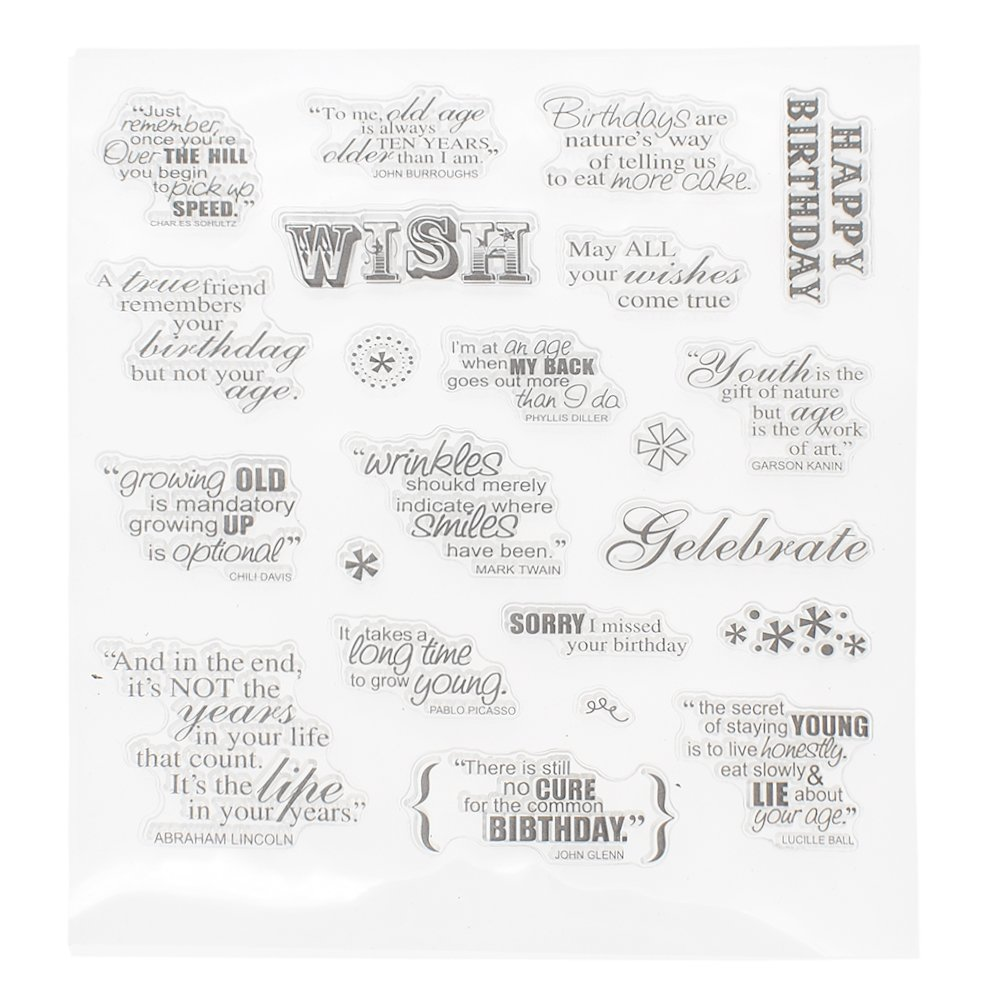 We-buys Kawaii Transparent Silicone Stamp Clear DIY Scrapbooking Craft Stamps