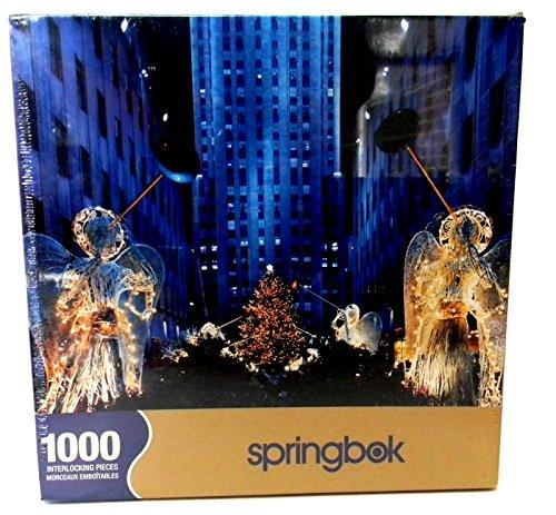 Springbok 1000 Piece Puzzle - Heralding Angels - Rockefeller Center, New York City At Christmas -