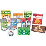 Bigjigs Toys Wooden Cupboard Groceries - Pretend Play Food