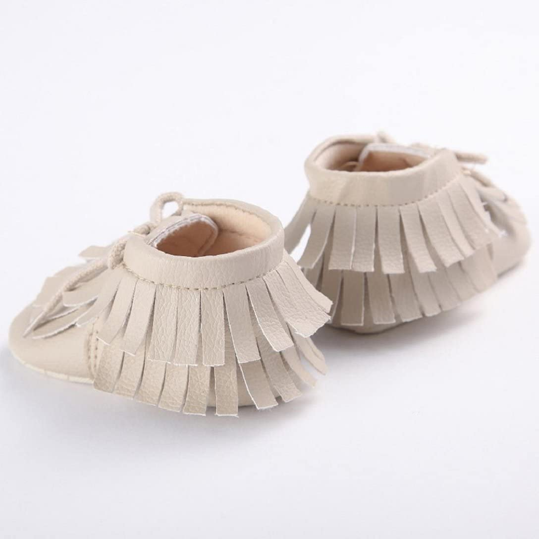 Baby Fashion Fringed Baby Boots,HighpotBoys Girls Baby Tassels Shoes Toddler Soft Sole Sneakers Autumn and Winter 8-12M 13 , Beige