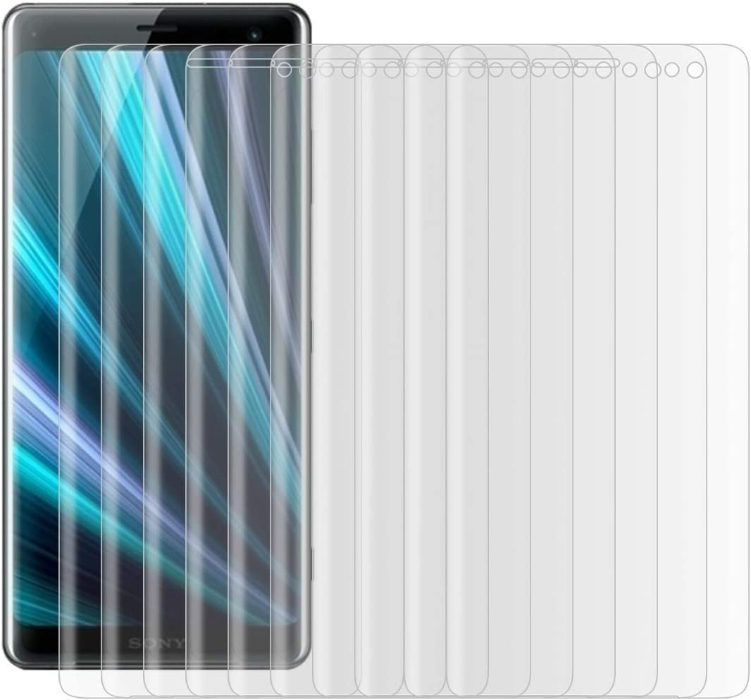 Black JIN Mobile Phone Screen Film 25 PCS for Sony Xperia XZ3 0.3mm 9H Surface Hardness 3D Curved Edge Full Screen Tempered Glass Film Color : Transparent