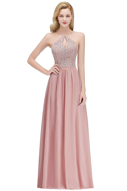 MisShow Elegante Damen Rückenfrei Neckholder Abendkleid ...