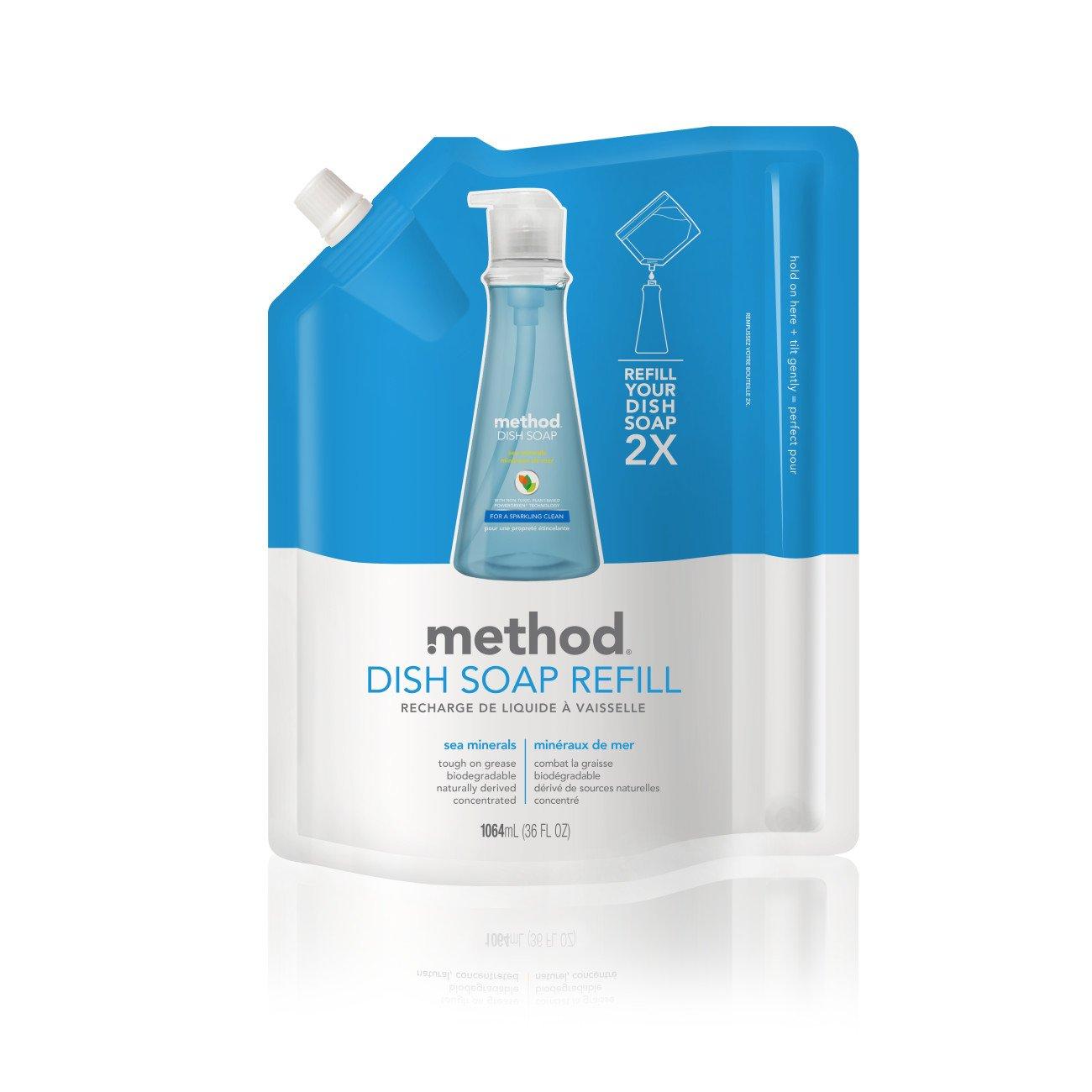 Method Dish Soap Refill, Sea Minerals, 36 Fl Oz, Pack of 6
