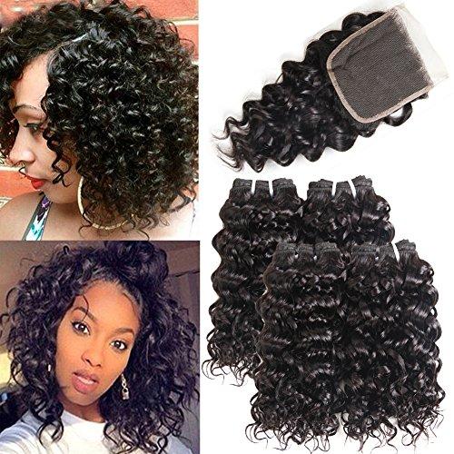 Human Hair Weaves 3/4 Bundles With Closure Trustful Wome #27 Indian Deep Wave Hair 3 Bundles Honey Blonde Color Human Hair With Closure Non Remy Curly Hair Extensions Terrific Value