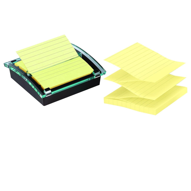 Post-it DS440-SSCYL - Dispensador Millenium, color negro y 1 bloc Z-Notas Super Sticky, 90 hojas/bloc, color Canary Yellow con líneas: Amazon.es: Oficina y ...