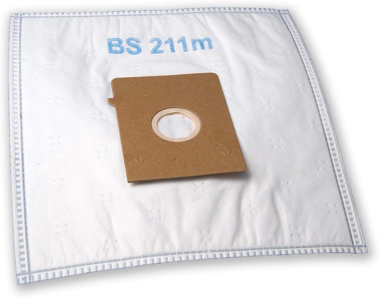 eVendix Bolsa de aspiradora Adecuada para Siemens VS 01E - - Big Bag 3 l | 10 Bolsas de Polvo + 2 microfiltros | Similar a Las Bolsas Originales: VZ 71 AF K, Tipo K.: Amazon.es: Hogar